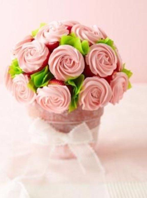 Cupcake Rose Cake