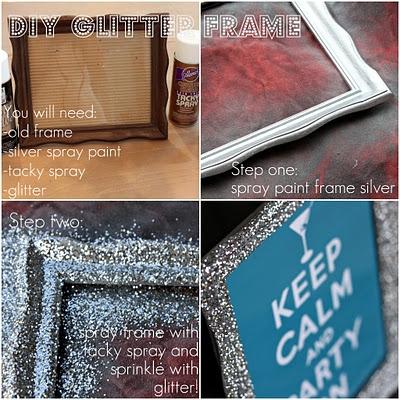 Make a Glitter Picture Frame