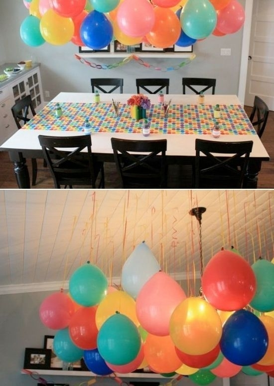 3 upside down balloons 46 eye catching party for Balloon and streamer decoration ideas