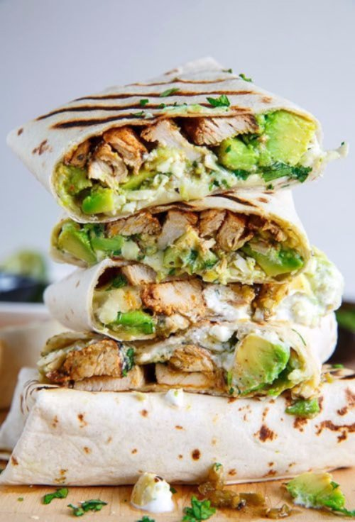 Chicken and Avocado Burritos - Lunch Ideas for Ladies Who Are Sick ...