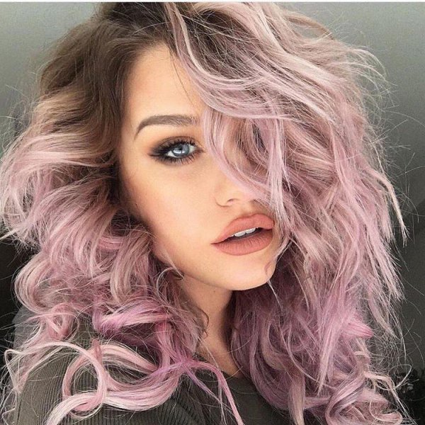 hair, human hair color, face, blond, pink,