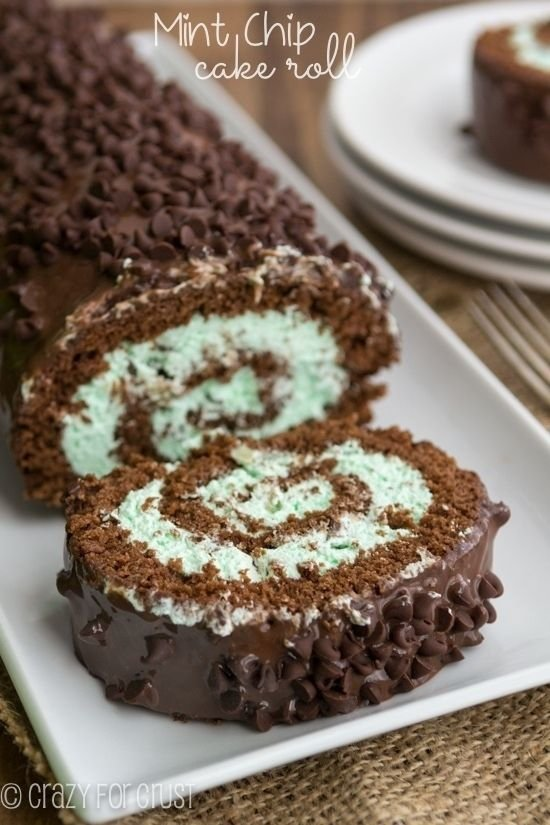 12. Mint Chip Cake Roll - Here Are the Best Mint Chocolate Recipes to ...