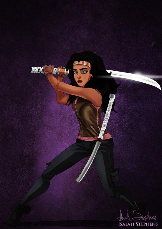 Esmeralda as Michonne