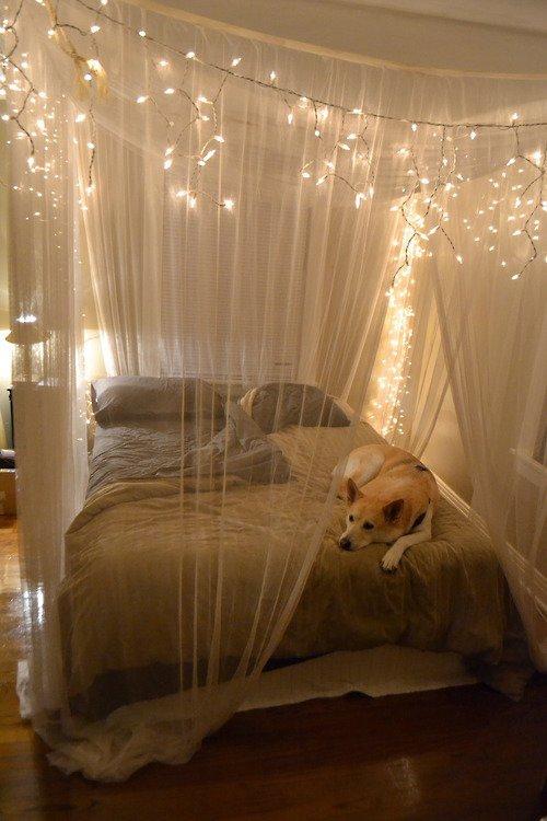 Encienda las luces 7 pabellones hermosa cama para hacer su - Como hacer un pabellon para cama ...
