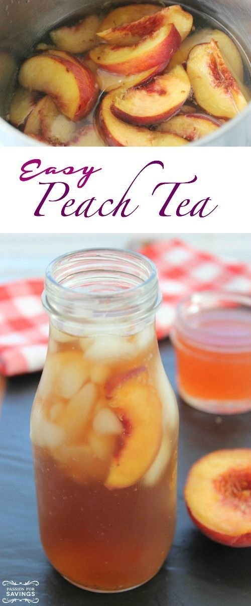 Easy Peach Tea