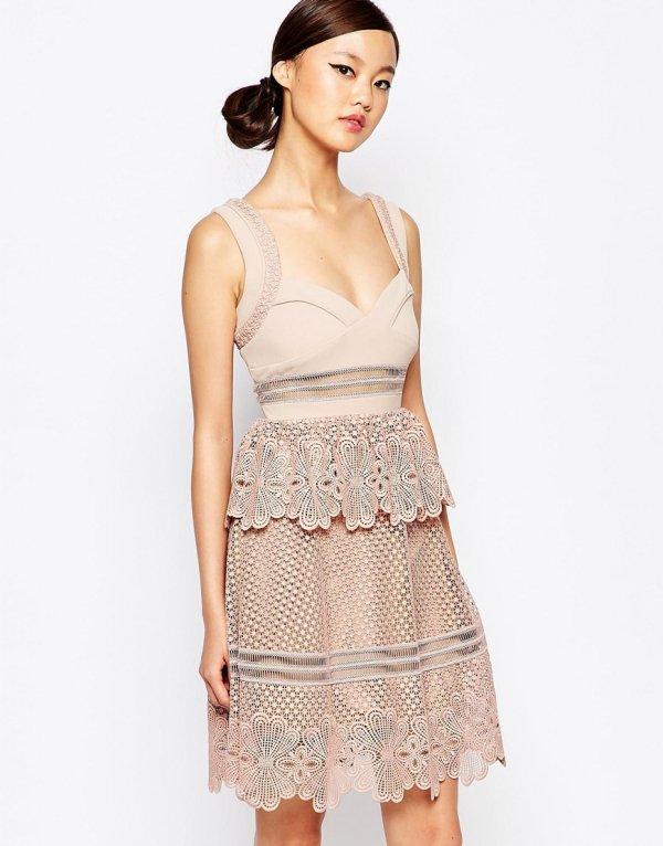 13. Self Portrait Natalia Tiered Dress - 21 Pretty Pink Dresses…
