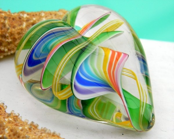 chihuly glass paperweight
