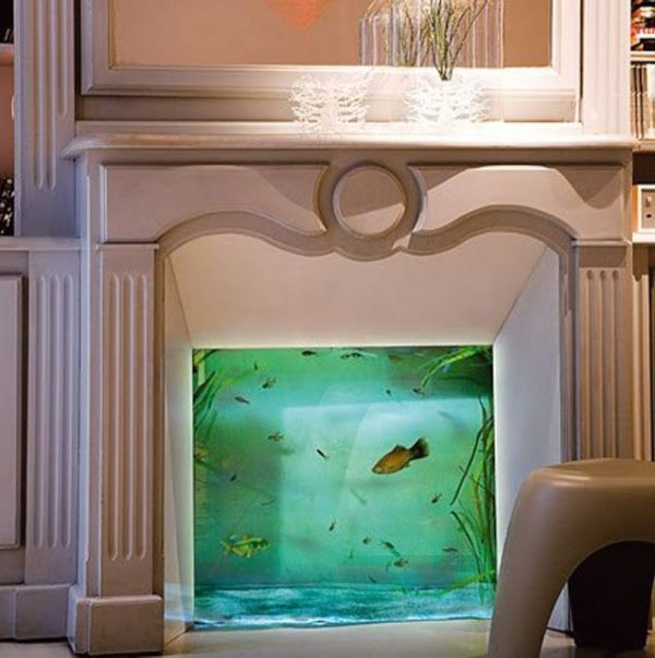 Fireplace Aquarium 28 Everyday Items Turned Into Fish