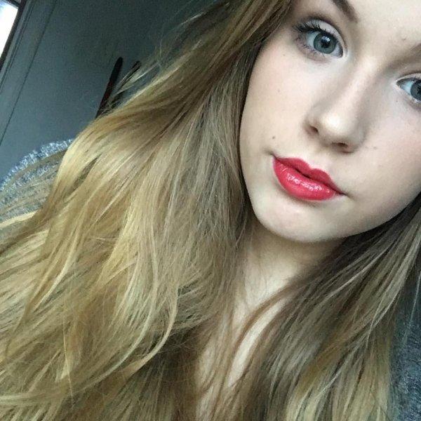 Sabrina's Bold Red Lip