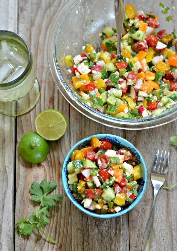 Via Chopped Salad with Cumin-Lime Vinaigrette