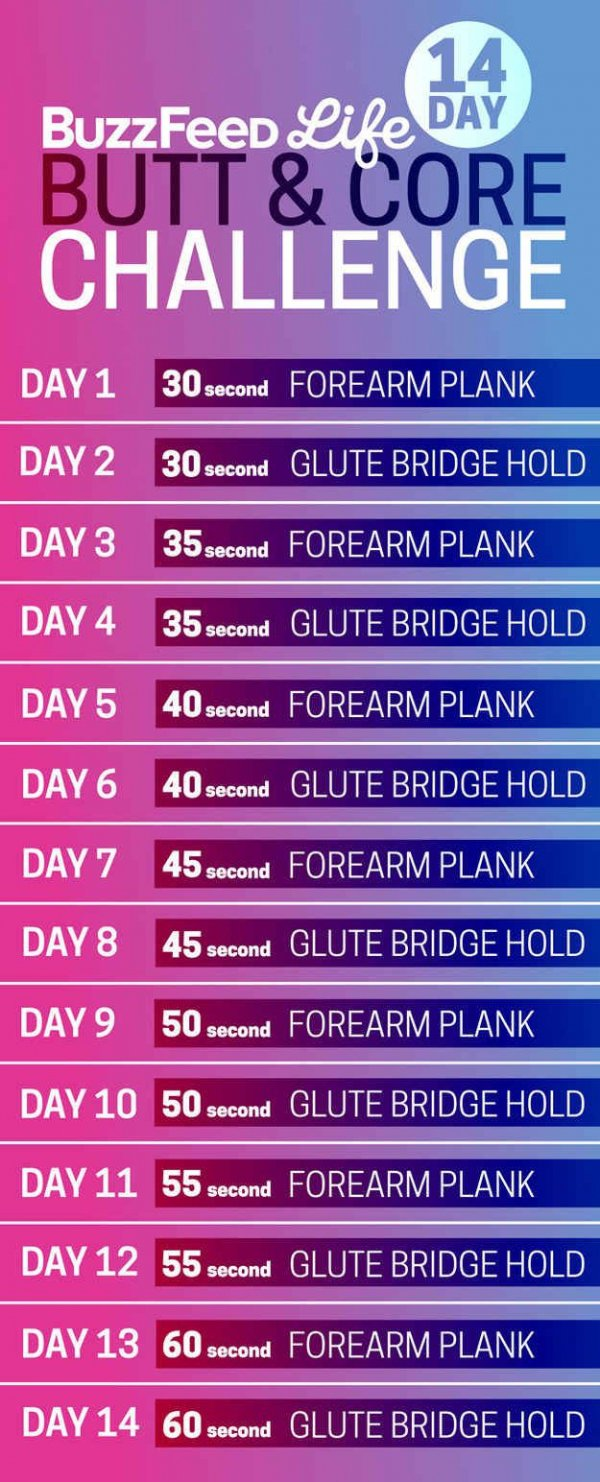 14-Day Butt & Core Challenge