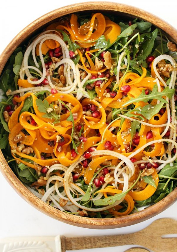 ... and Roasted Butternut Squash Salad with Maple Sesame Vinaigrette