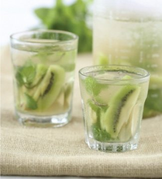 Kiwi, Ginger and Mint Water