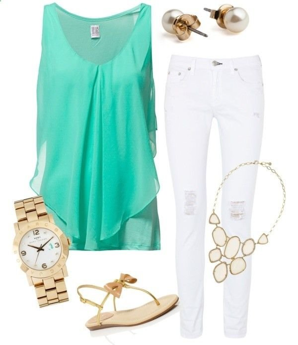 Pop Of Mint On Top Are You Ready For Spring 32 Super Cute