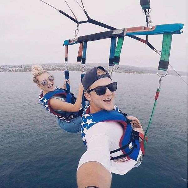 sports, parasailing, towed water sport, sea,