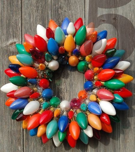 Vintage Christmas Light Wreath Awesome Enlightenment