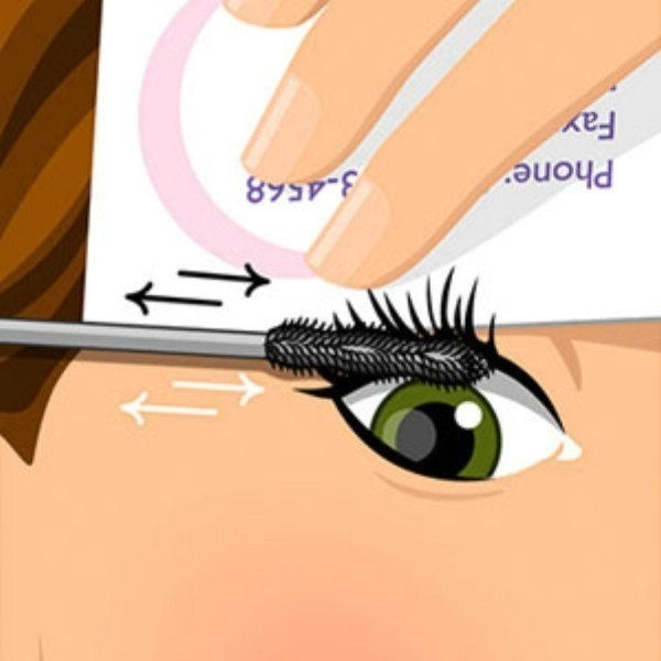 Business Card Mascara Trick