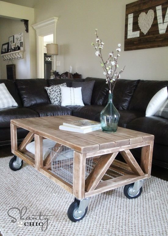 DIY Coffee Table For Under $50