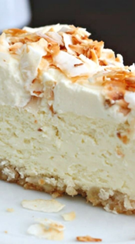 Coconut Cheesecake with Macadamia Nut Crust - 33 Coconut Desserts…