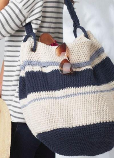 DIY Nautical Hobo Bag