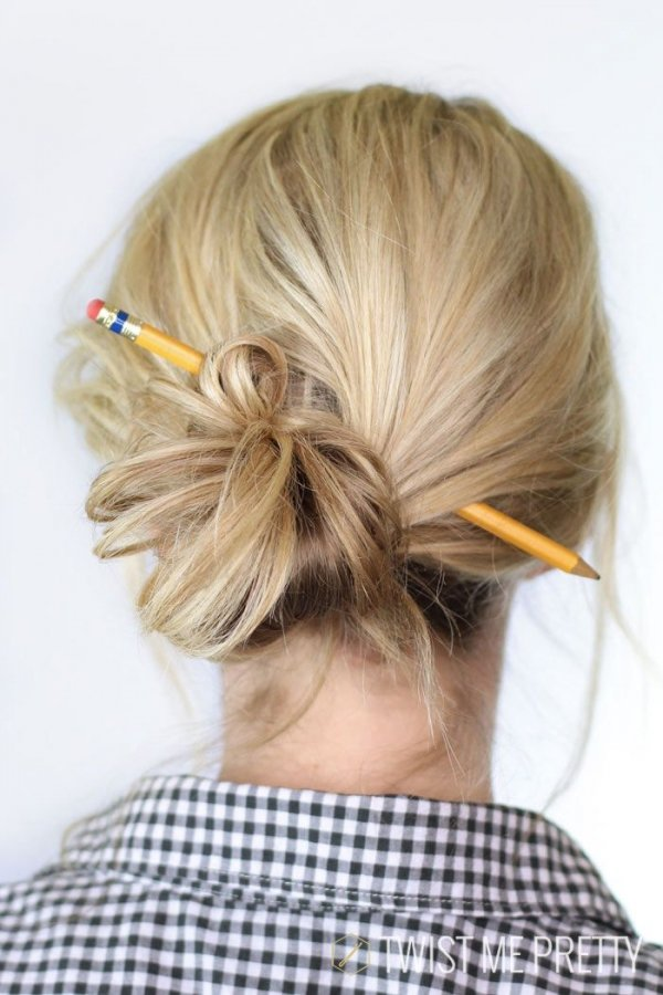 Bun with Pencil?