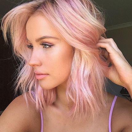farvet hår med striber