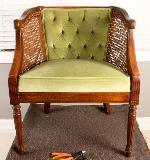 How to French Tuft a Cane Chair