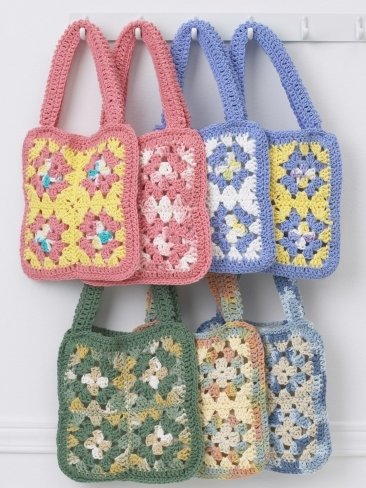 Crochet Granny Square Handbag : The Granny Square is a popular way of making blankets, but it can also ...
