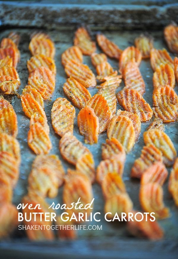 Oven Roasted Butter Garlic Carrots