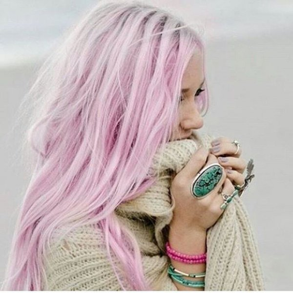 Her Cotton Candy Hair