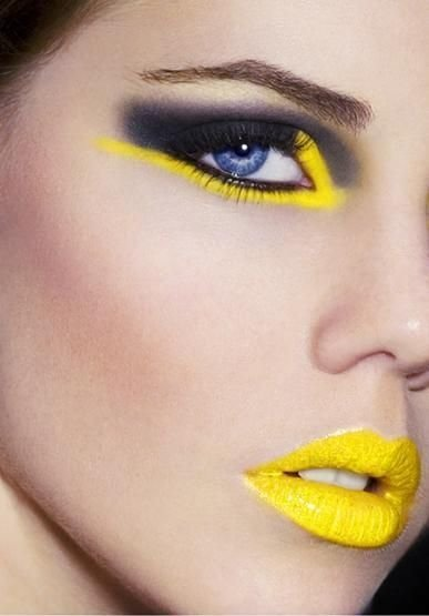 Chrome yellow 21 daring eye makeup looks to try in 2015 Fashion style and make up