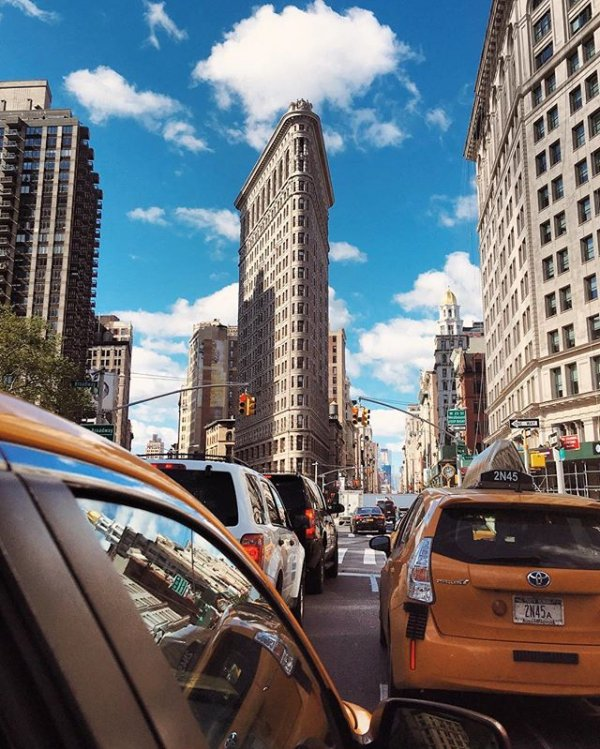 Flatiron Building, Flatiron Building, road, vehicle, cityscape,
