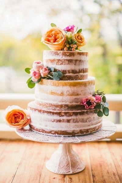 Dusted Naked Cake