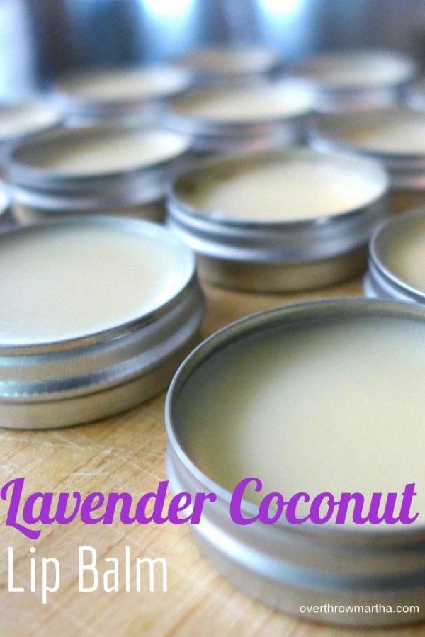 Easy DIY Lavender and Coconut Lip Balm
