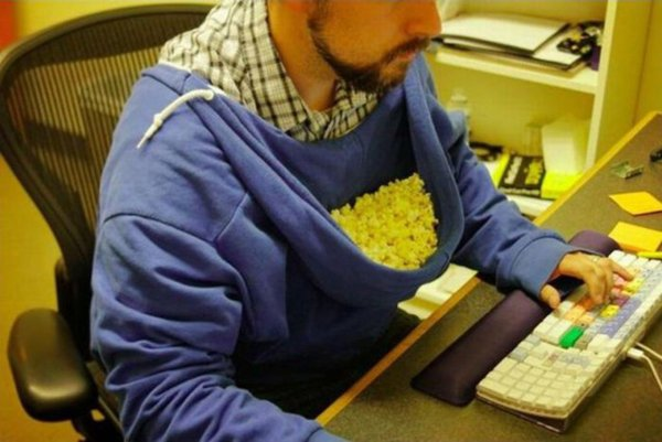 Where to Keep Your Popcorn (or Chips) when You're Working