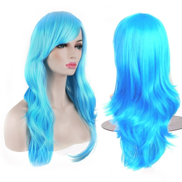 hair, clothing, blue, wig, costume,