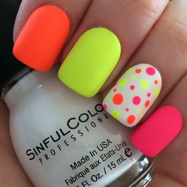 Neon Nail Designs: 45 Awesome Reasons To Try Neon Nail Art ... → 💅 Nails