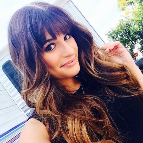 Lea michele 39 s beautiful bangs and this is why bangs are for Lea michele coupe de cheveux
