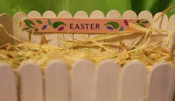 Popsicle Sticks Basket