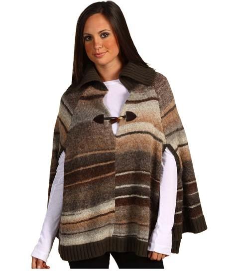 Sanctuary Flannel Striped Poncho
