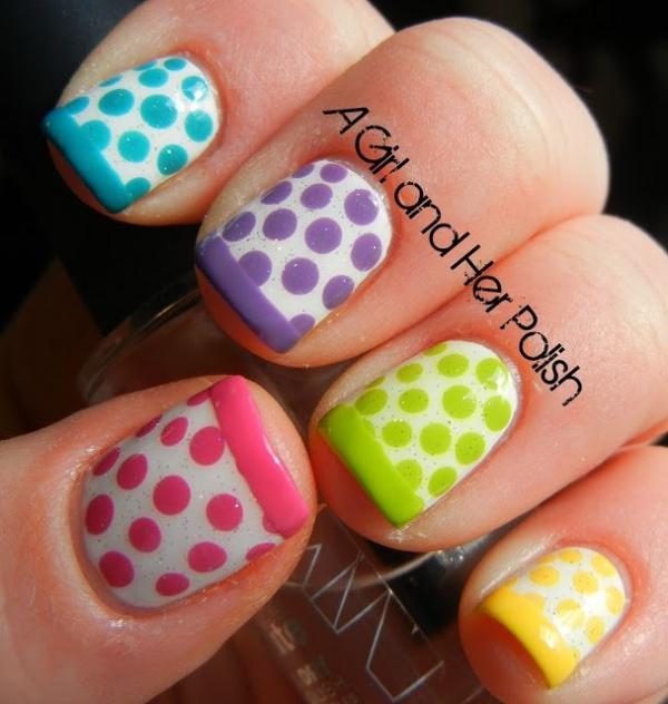 7. dotty manicura francesa - Estas uñas arte patrones harán que sus…