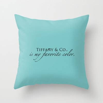 Throw Pillows Tiffany Blue : Tiffany Blue Throw Pillow - Tiffany s Isn t Just for Jewelry ...?