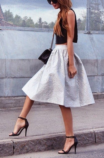 Combine a Sexy Crop Top with a Flirty Midi, Killer Shades and You're Good to Go!