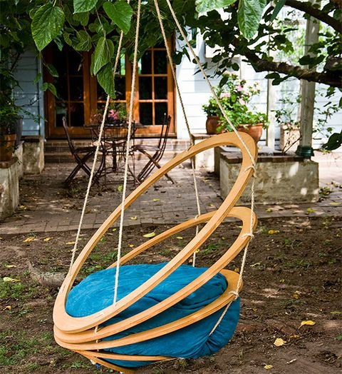 Crafty Wood Hanging Chair