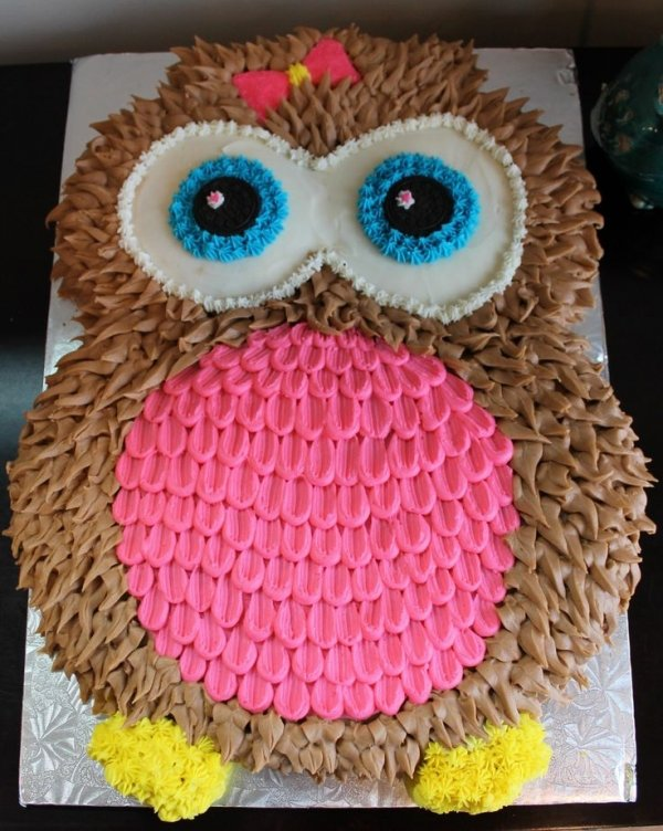 Easy Owl Cake Design : Owl Cake - 50 Easy Make Animal Cakes for Every Occasion ... ?