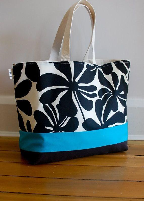 Large Canvas Beach Bag
