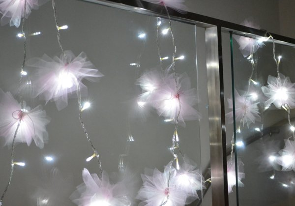 String fairy lights 7 things you can make with tulle for Stuff to make with string