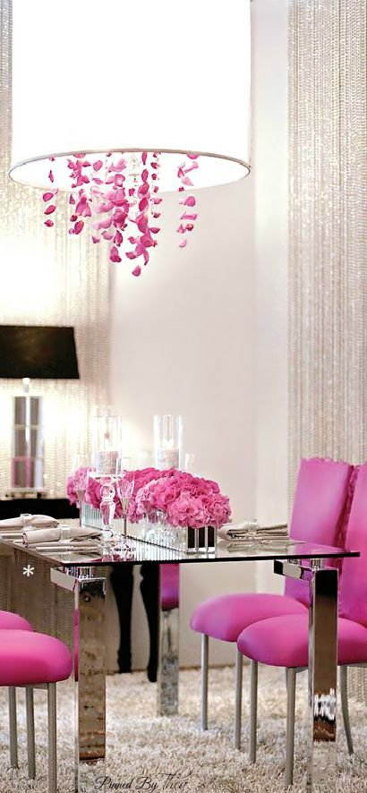 Use a Pop of Pink on a White Palette