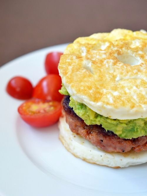 Paleo Sausage Egg Sandwich