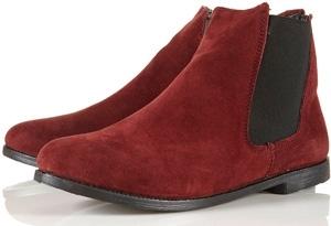 Topshop Marvel Suede Chelsea Boots